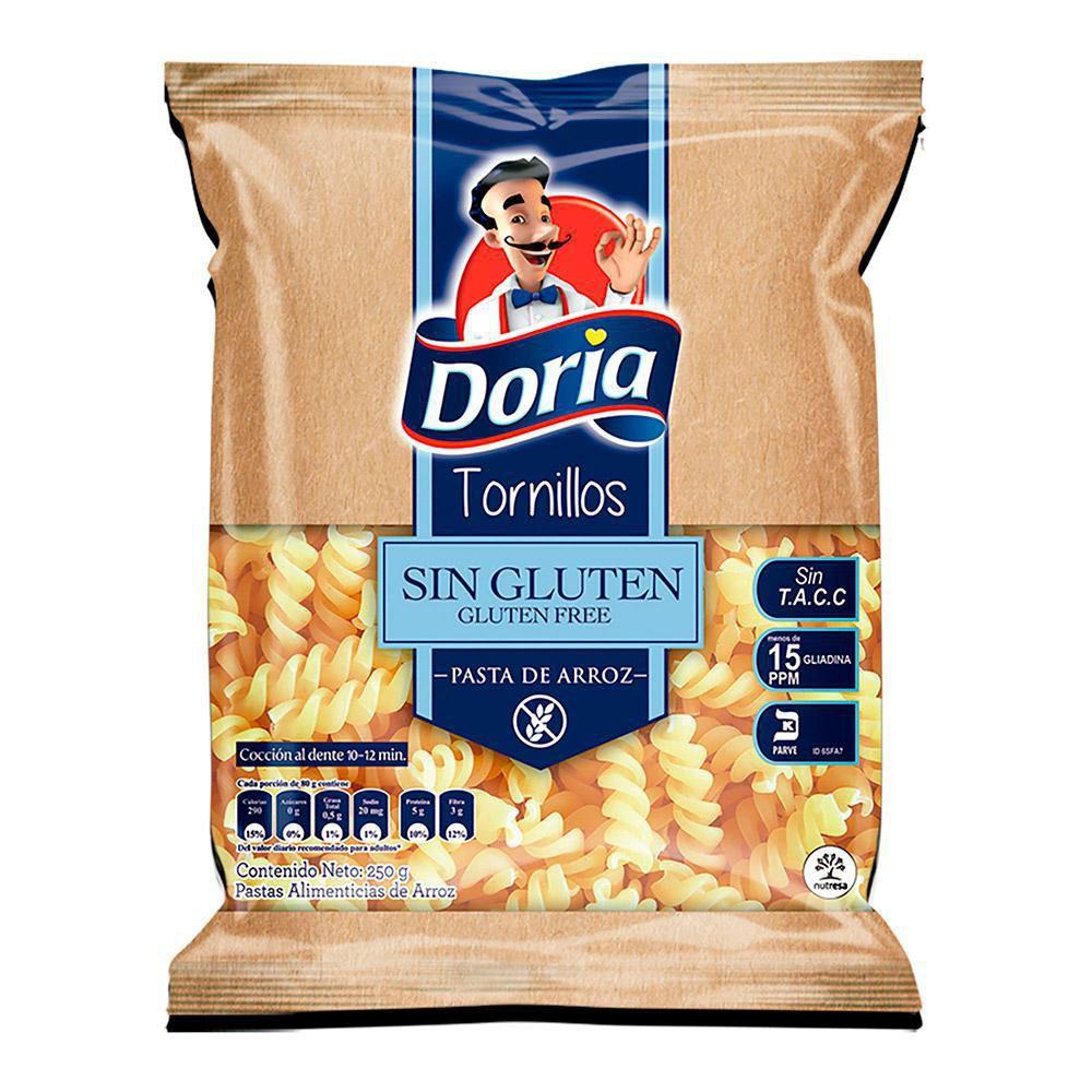 Tornillos Doria Sin Gluten X 250 gr