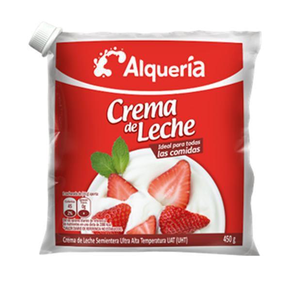 Crema de leche semientera uht x 450 gr