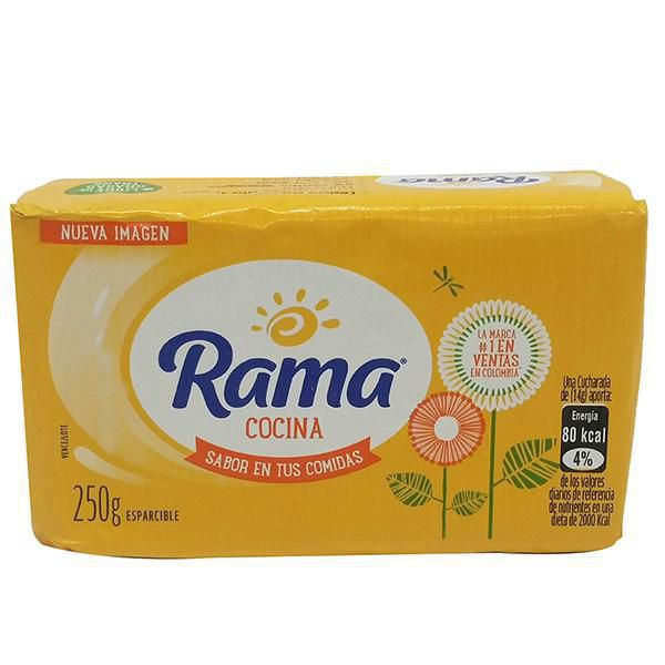 Mantequila esparcible Rama X 250 Gram