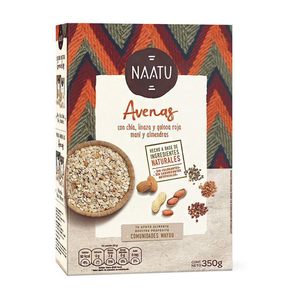 Avena Naatu maní almendras quínua roja linaza