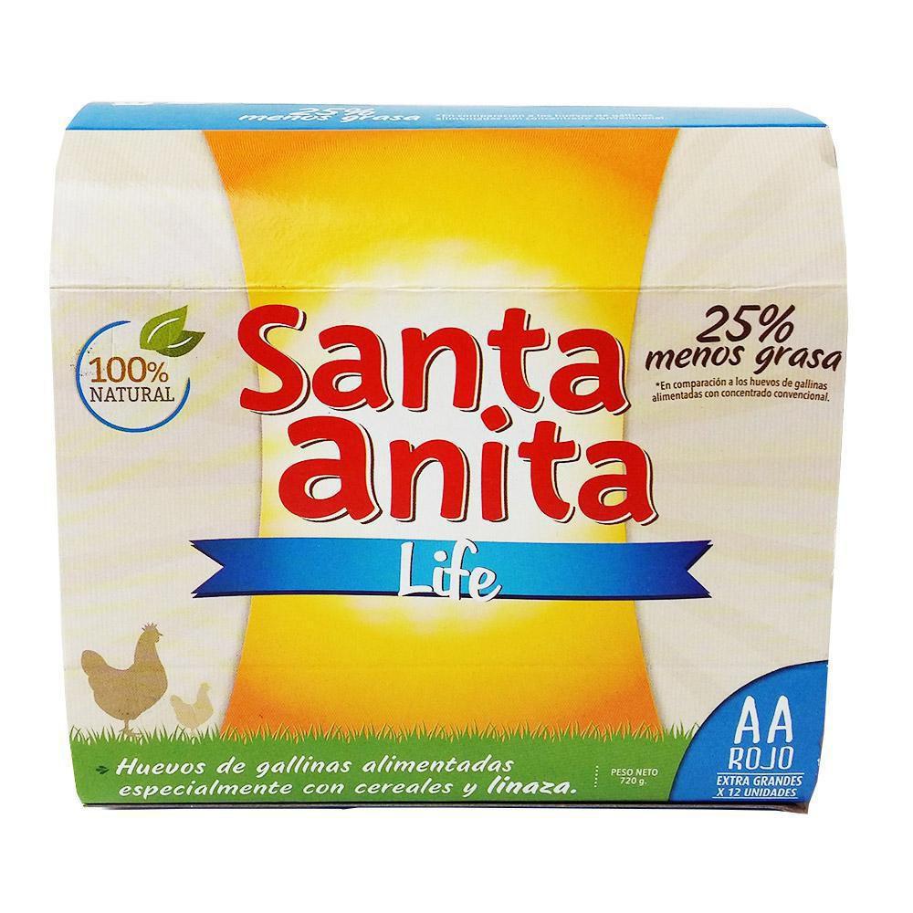 Huevo Santa Anita Life Aa Rojo
