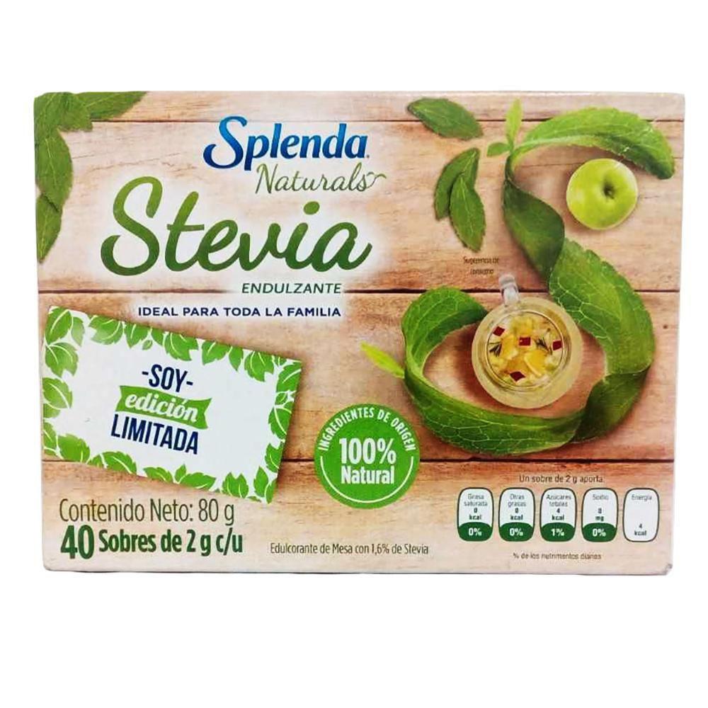 Endulzante Splenda Naturals X 40 Hecho Con Stevia