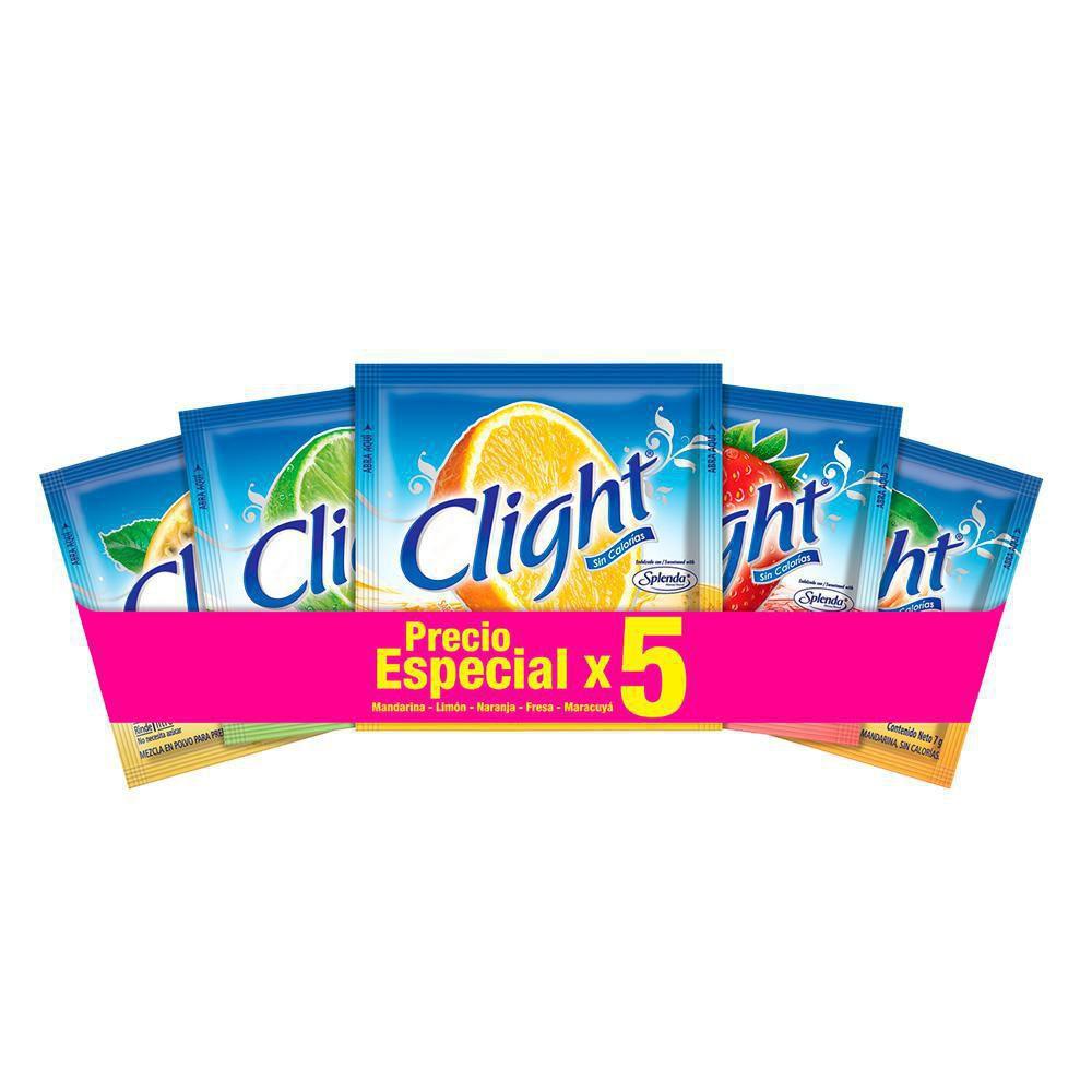 Bebida En Polvo Sin Azucar Clight Surtido 35g - 5 Packs