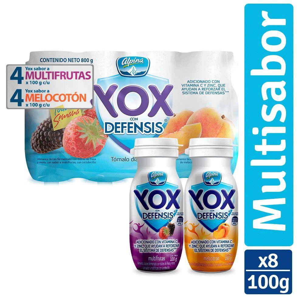 Yogur multifrutas + melocotón