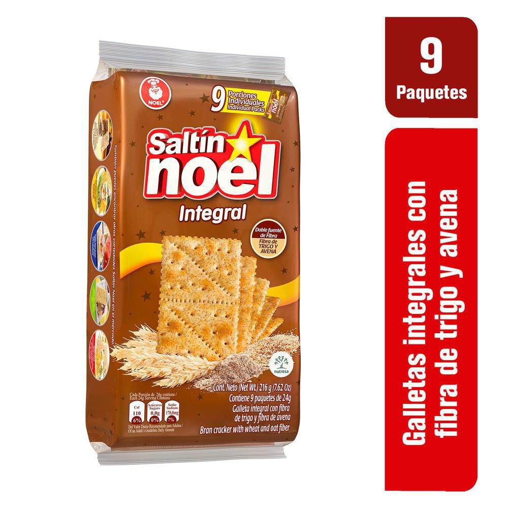 Galletas Crakers Integrales X 9 Paquetes X 24 gr