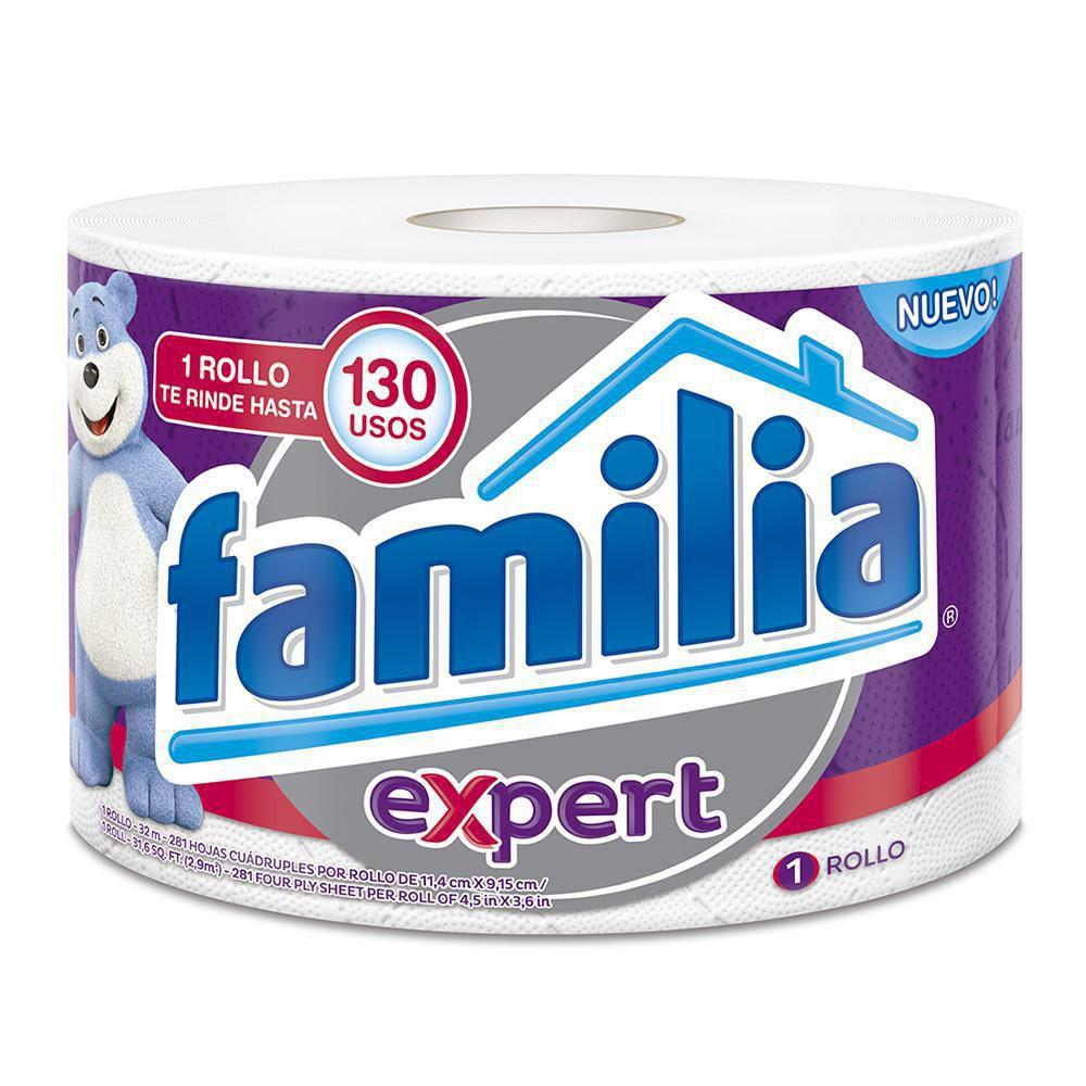 Papel higiénico familia expert x 1 rollo