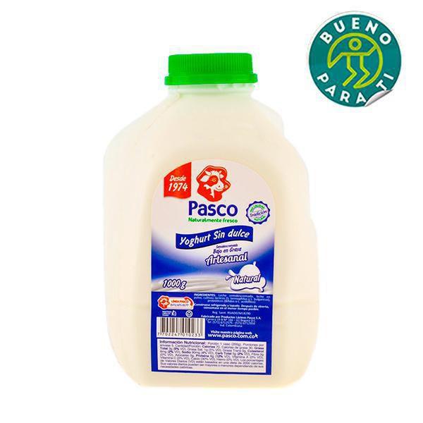 Yogurt liquido sin dulce x 1000 gr