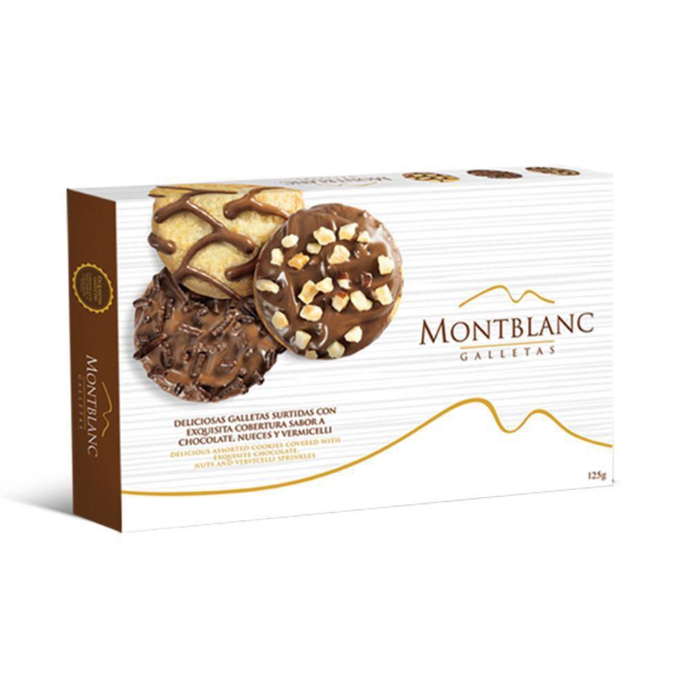 Galletas Surtidas Cubiertas De Chocolate Oscuro X 125 gr
