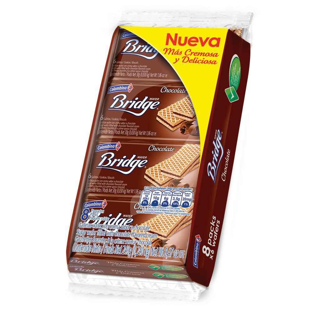 Galleta Wafer Chocolate Indivi