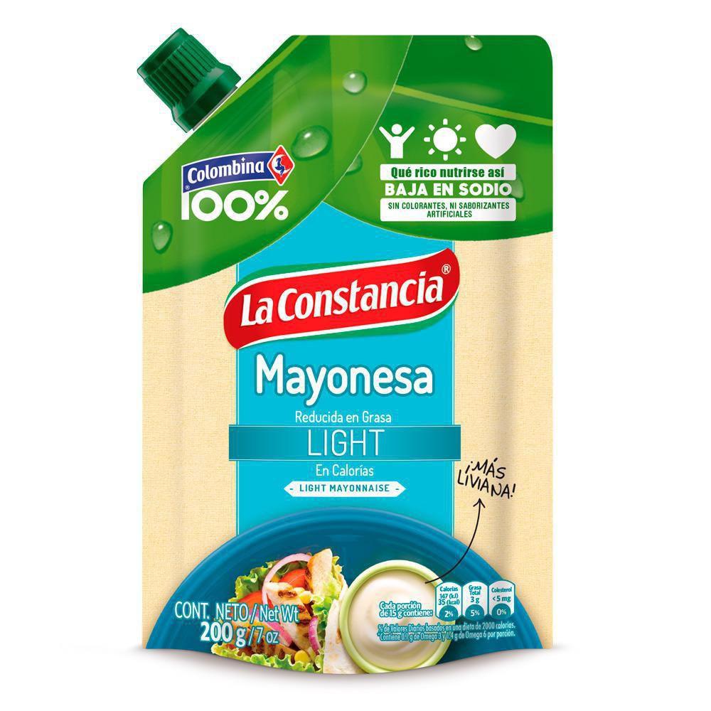 Mayonesa Light Doy Pack Reducida En Grasa Light X 200gr