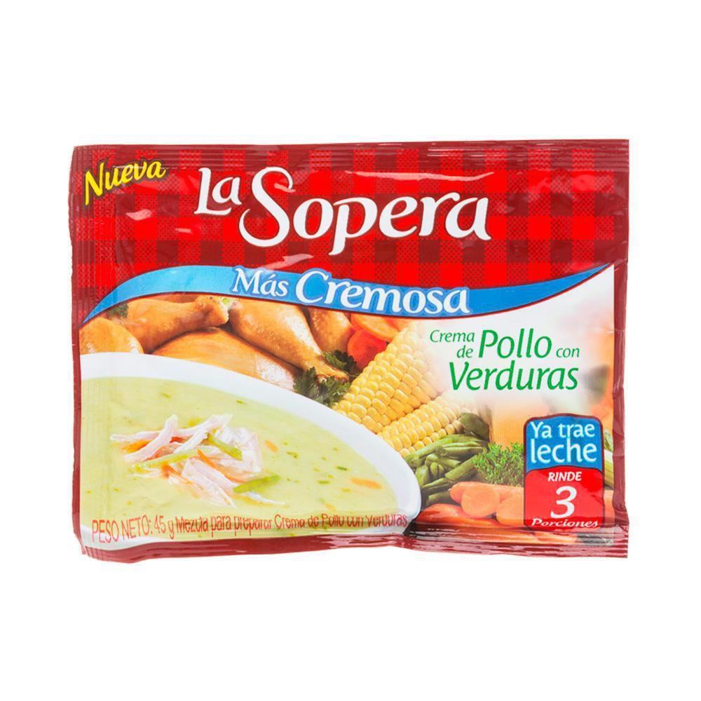 Crema Pollo Verduras 3porcione