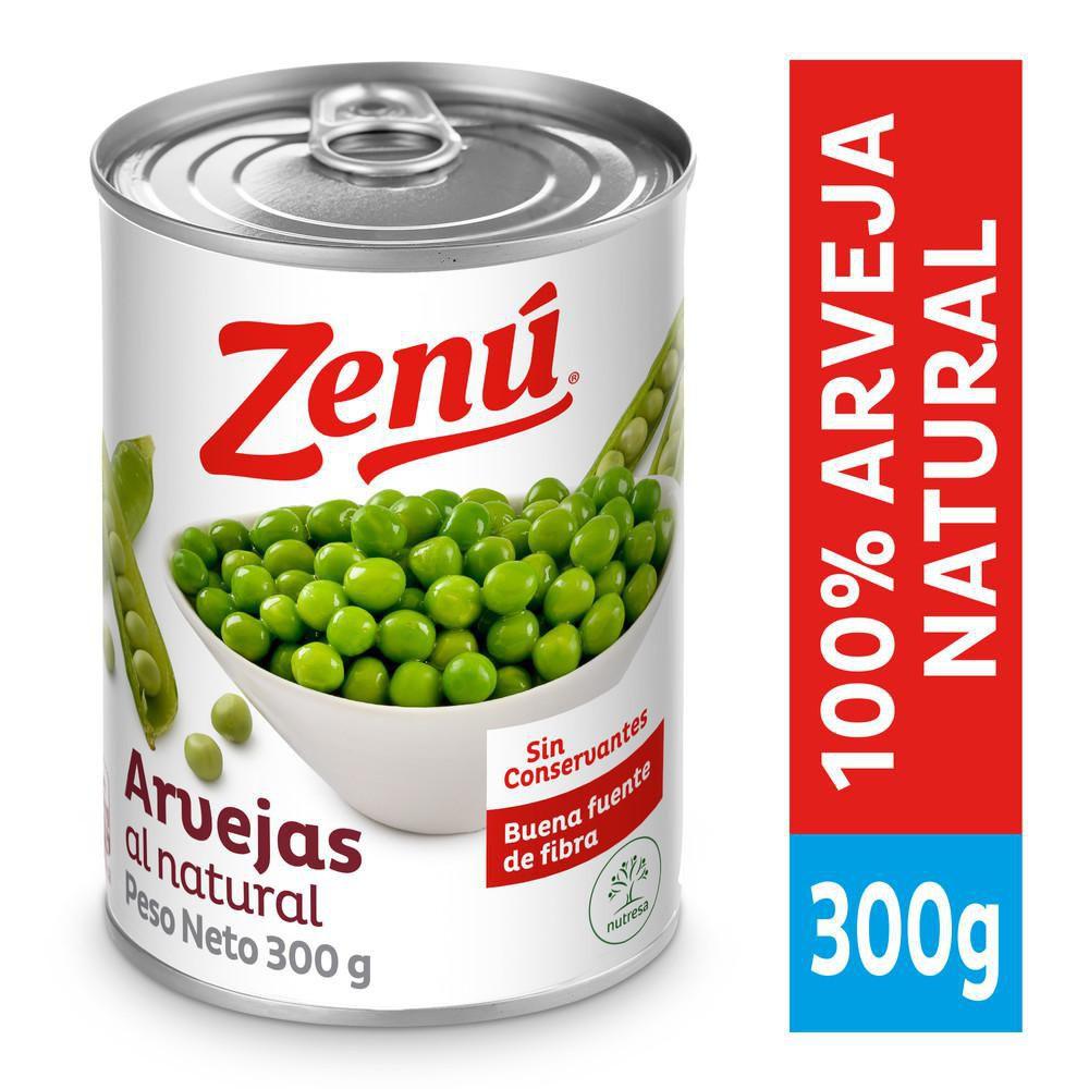 Arvejas Al Natural En Lata  X 300 gr