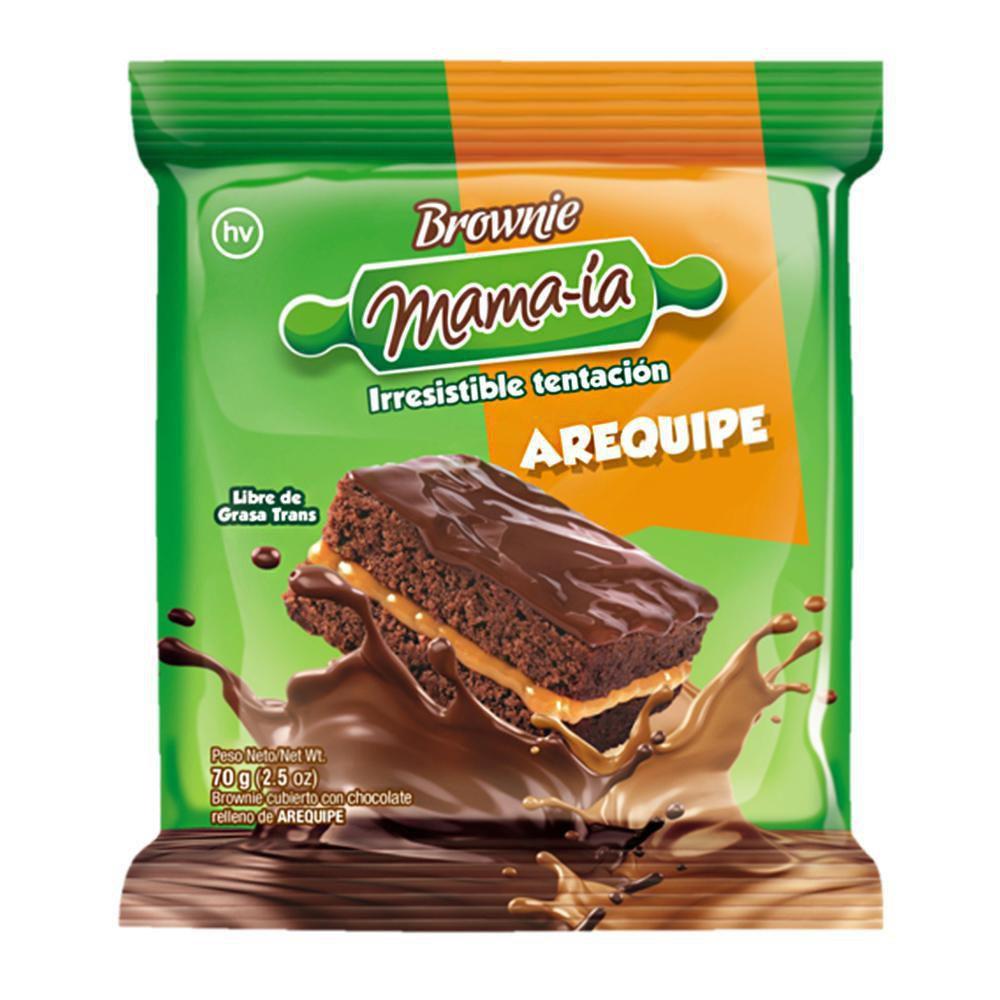 Brownie relleno de arequipe