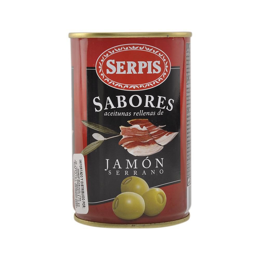 Aceitunas SERPIS rellenas jamón serrano