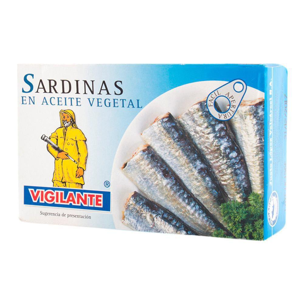 Sardinas aceite vegetal Vigilante