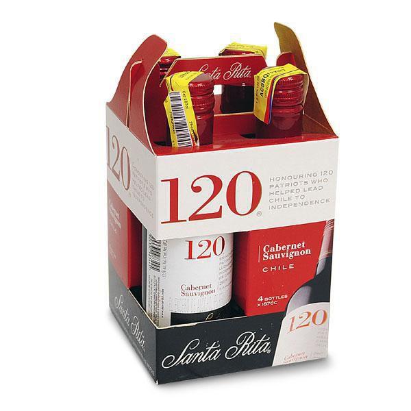 Vino Tinto Santa Rita 120 Piba X4 750 ml