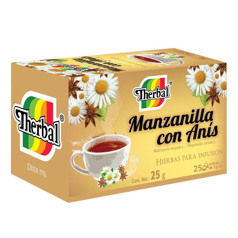 Té Manzanilla Con Anís Therbal 25 Piezas A Domicilio Cornershop By Uber Mexico