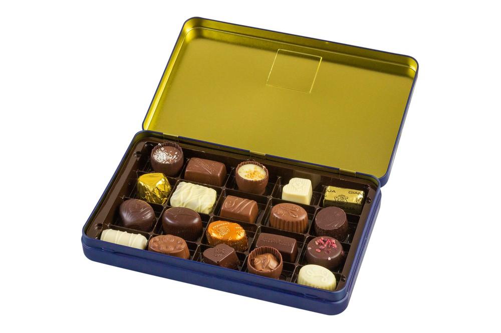 Caja Azul Metálica