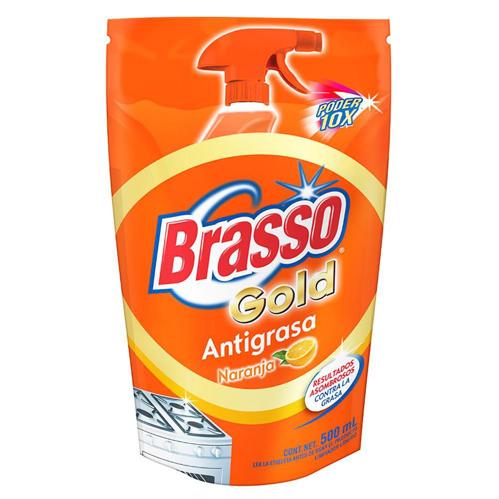 Limpiador líquido antigrasa naranja