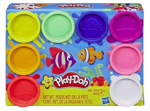 Play-doh 8 pack peces + 2 Años