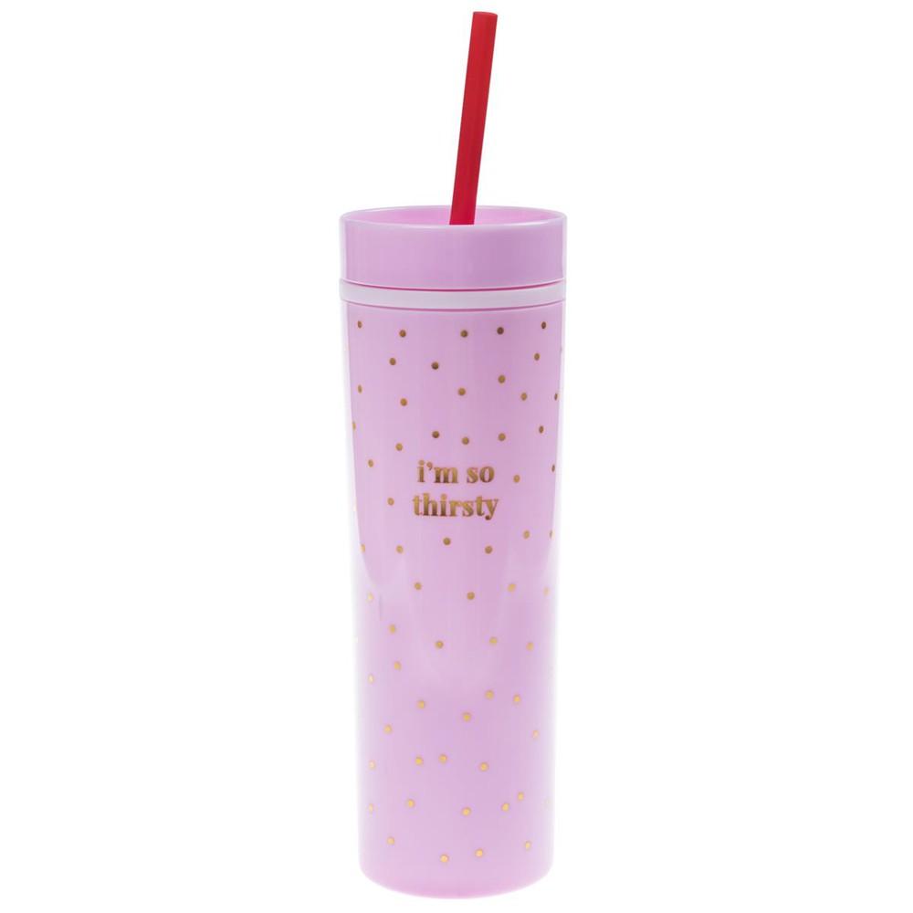 Pink and gold skinny tumbler caja 300 gr