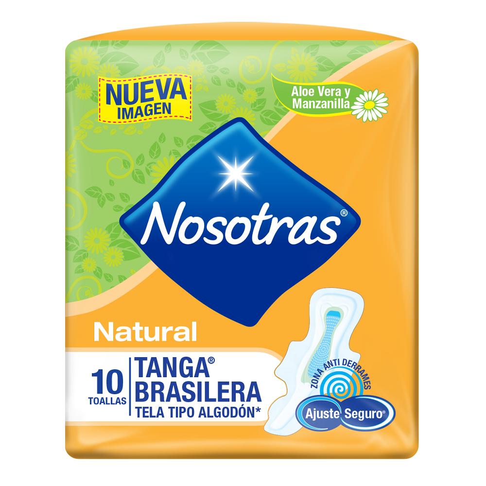 Toallas Higienicas Nosotras Natural Tanga Tela X 10Und