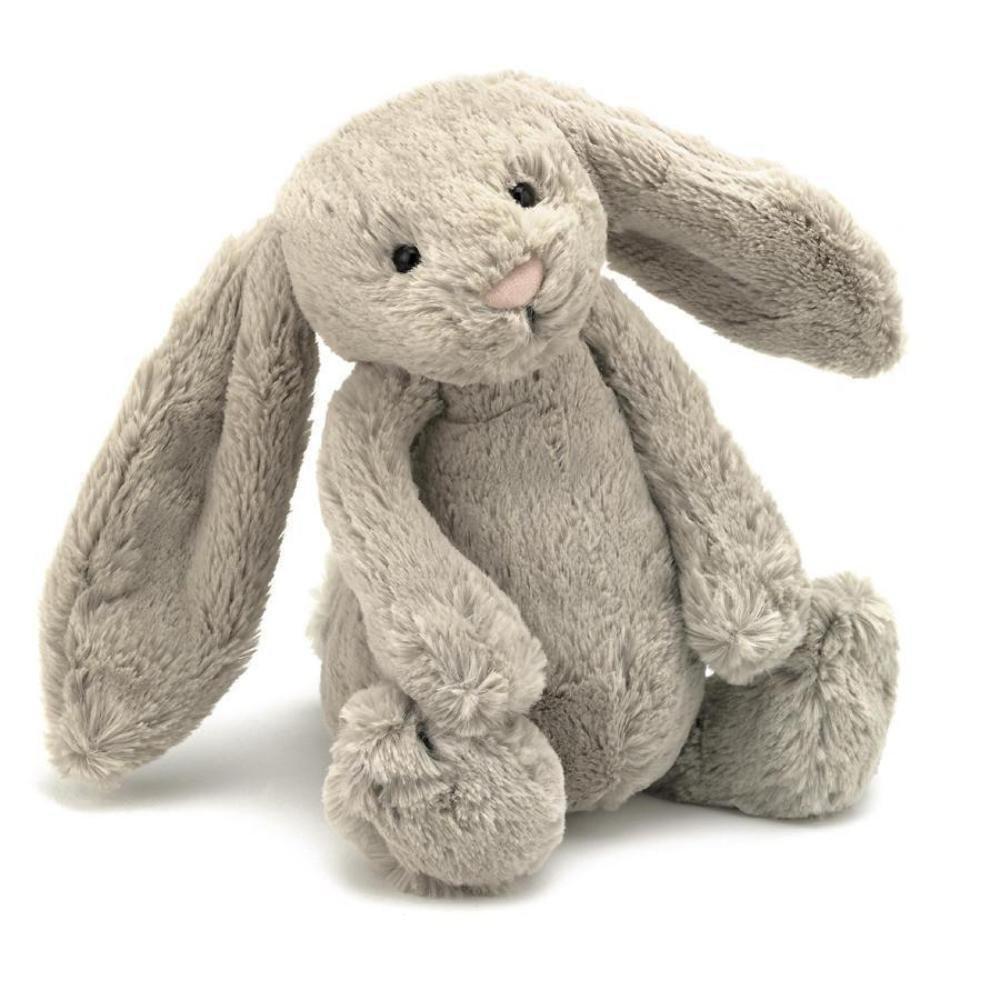 Peluche pequeño conejo beige 26 cm