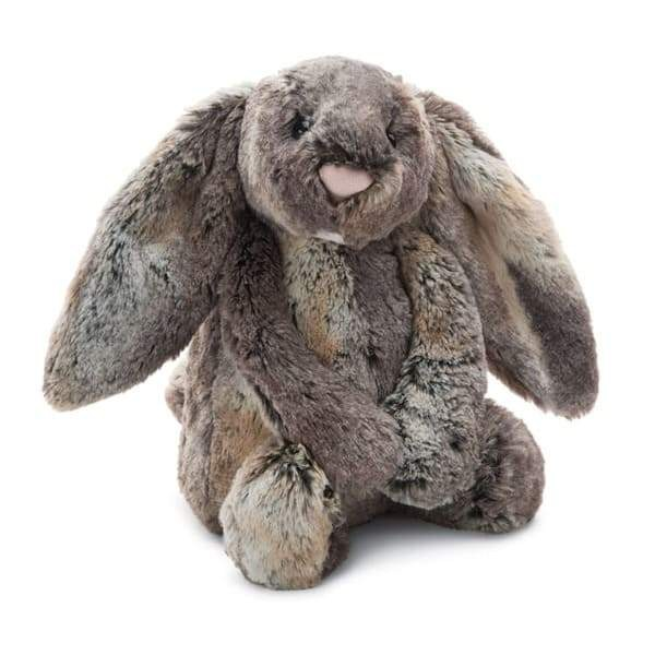 Peluche pequeño conejo gris woodland