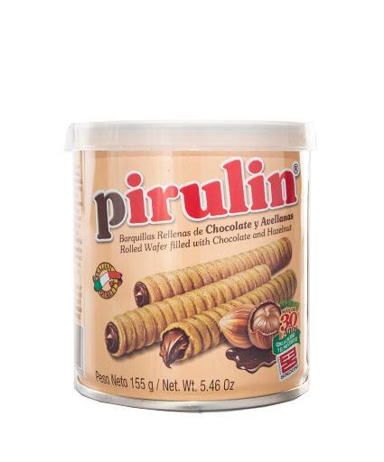 Barquilla chocolate avellanas Pirulin