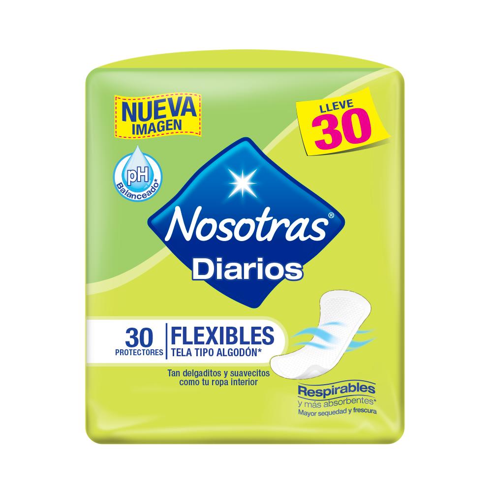Protectores Diarios Nosotras Flexibles X 30Und