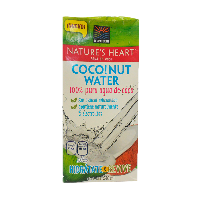 Agua Nature Heart Coco S/Azucar X 946Ml