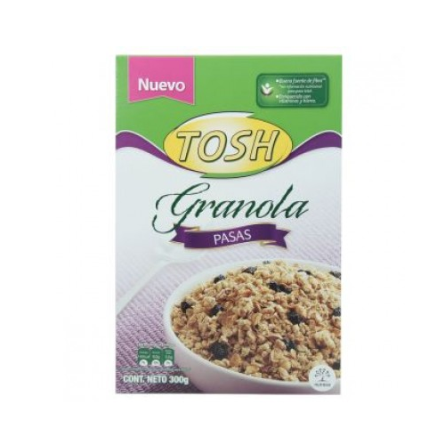 Cereal Tosh Pasas Caja X 300Gr