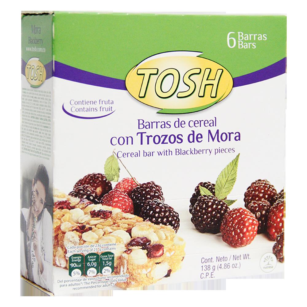 Barra De Cereal Mora X6Und Tosh