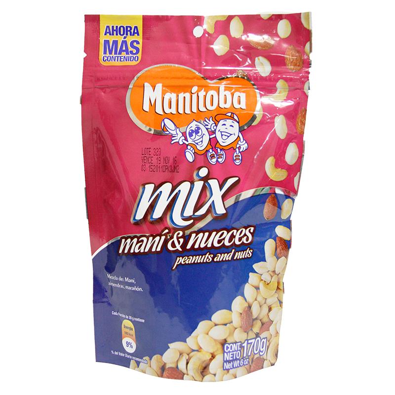 Manitoba Mix Mani & Nueces X 170Gr