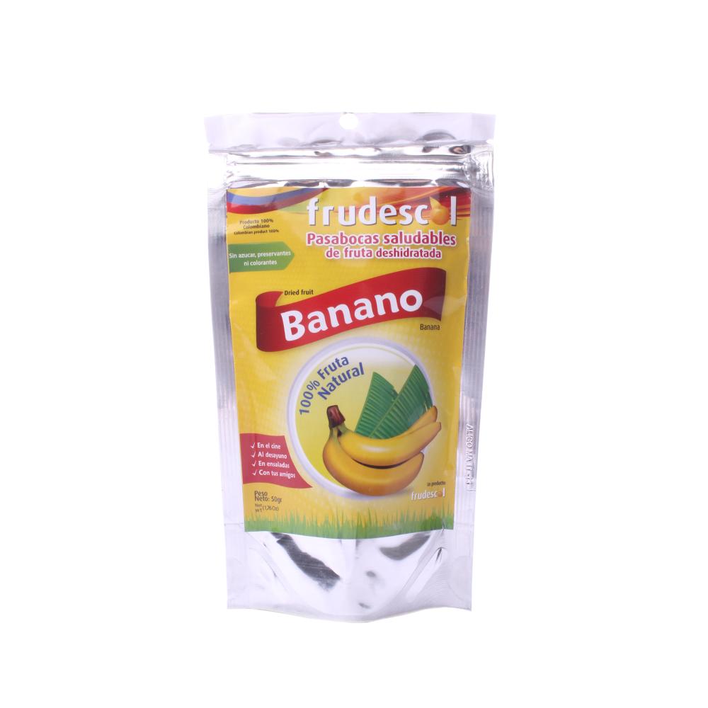 Fruta Deshidratada Banano Bolsa X 50 Gr.