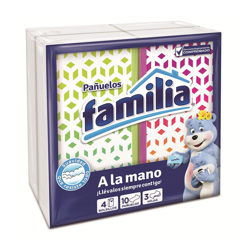 Pañuelos Familia Triple Hoja Bolsillo 4 X 10Und