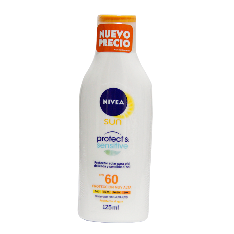 Bloqueador Solar Nivea Sensitive Fps60 X 125Ml