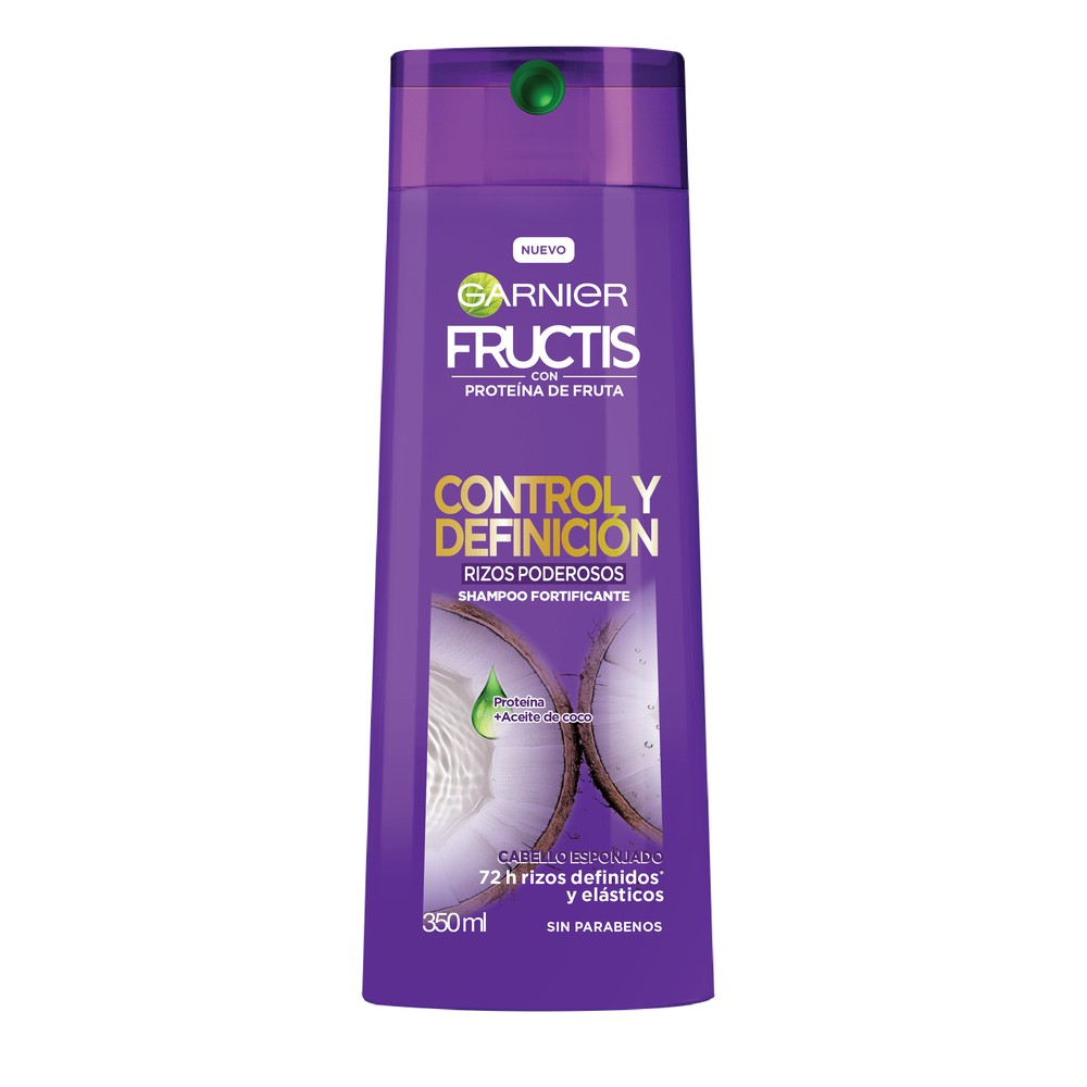 Shampoo Garnier fructis control definido rizos esponjosos