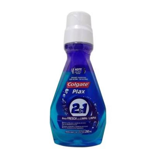 Enjuague bucal plax 2 en 1 freshmint 250 ml