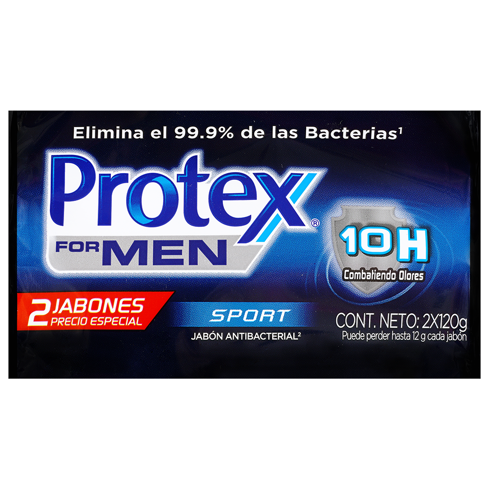 Jabon Protex For Men Sport X 2Und X 120G