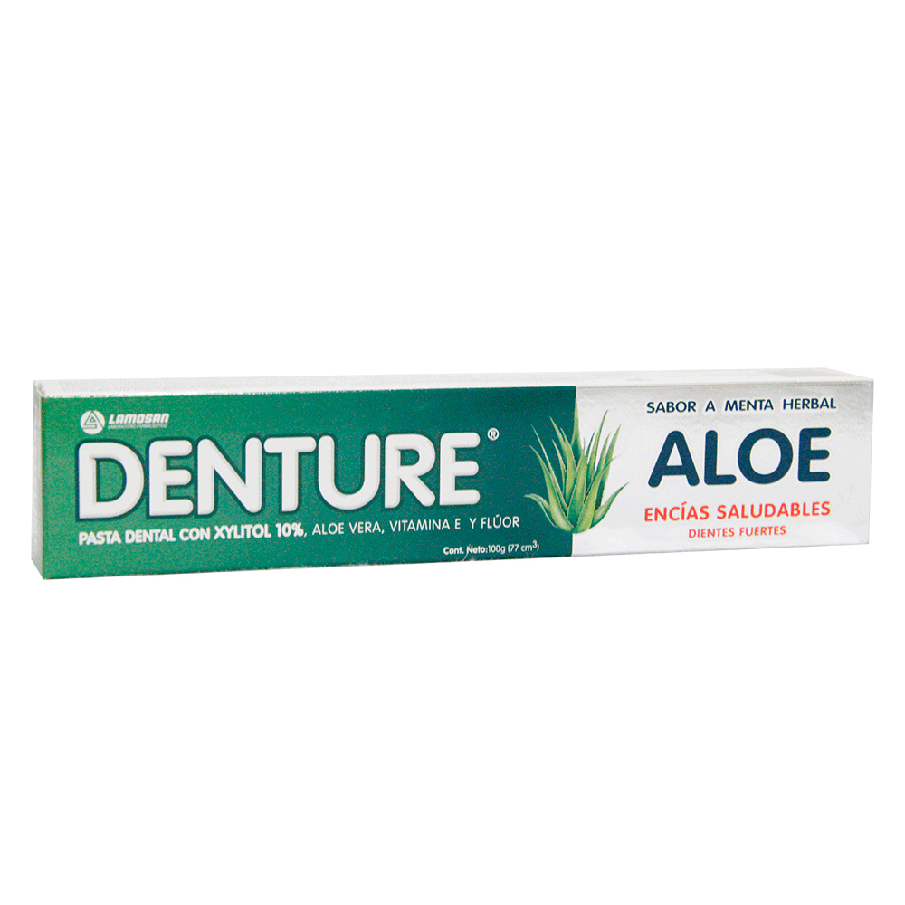 Crema dental Denture aloe menta herbal