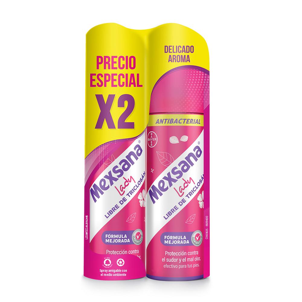 Oferta Desodorante Pies Mexsana Spray Lady X 2Und X 260Ml