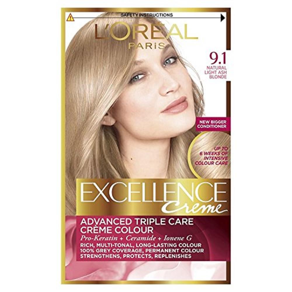 Tinte Capilar L'Oréal Paris Excellence Creme 9.1 Rubio Muy Claro Ceniza