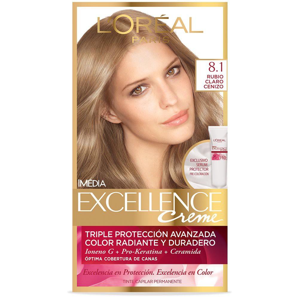Tinte Capilar L'Oréal Paris Excellence Creme 8.1 Rubio Claro Cenizo