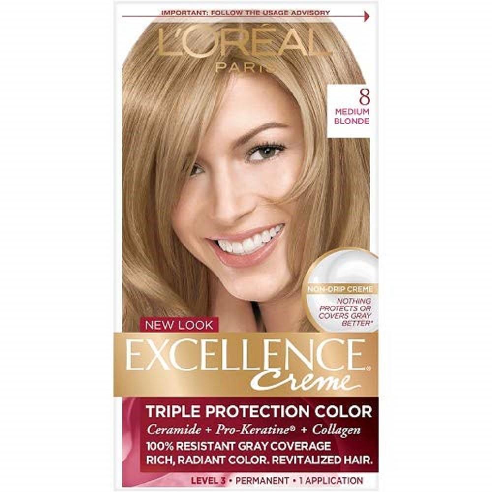 Tinte Capilar L'Oréal Paris Excellence Creme 8 Rubio Claro