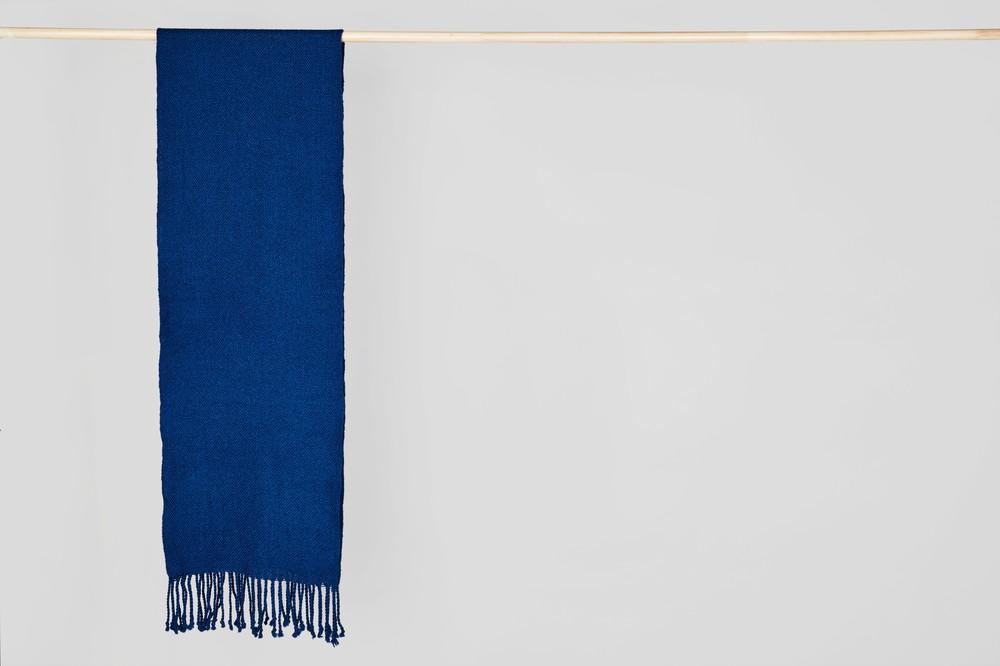 Bufanda simple azul