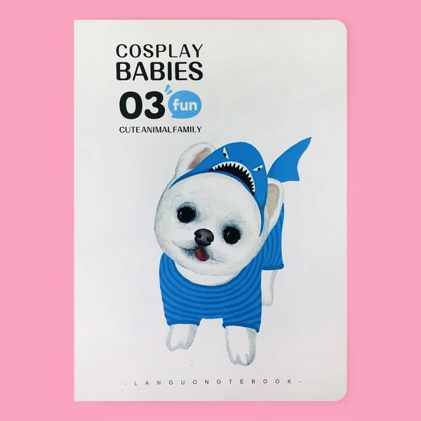 Libreta animales cosplay babies (tiburon)