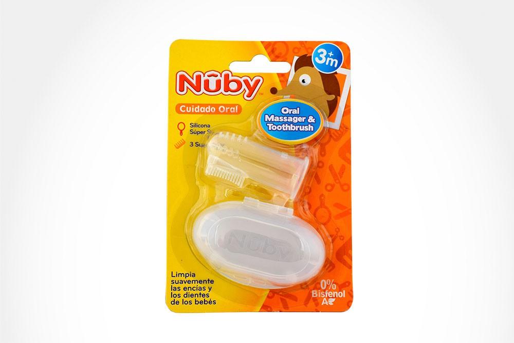 Nuby cepillo y masajeador oral para bebés empaque con 1 unidad