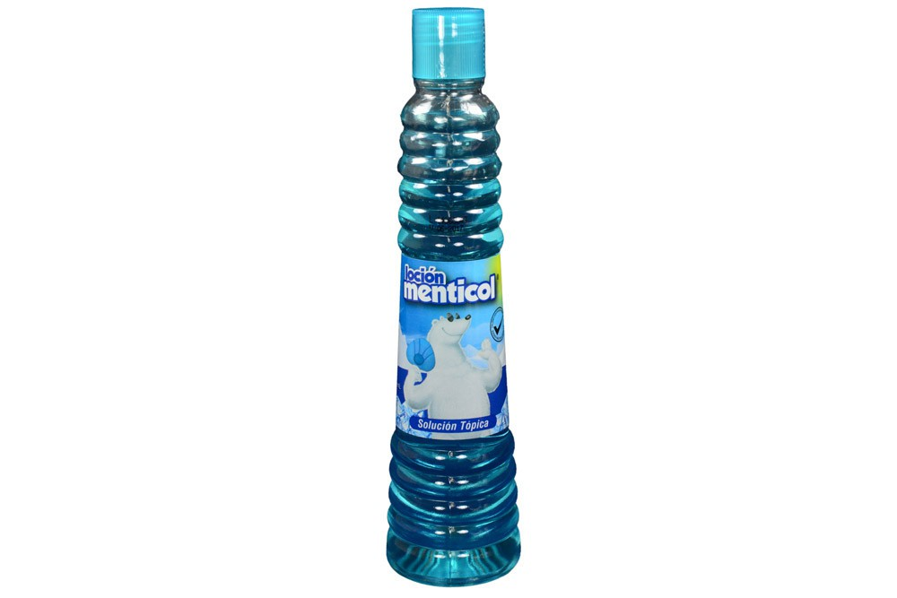 Loción menticol azul frasco con 130 ml