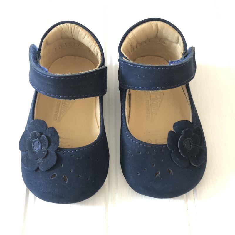 Baby mary jane flor nbk azul Talla 18 (11,6 cm- 6/9meses) *medida interna
